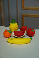 Сквиши squishy, Яблоко / Мандарин / Клубника , размер 7*5 см, фото 1