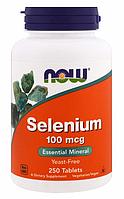 Now Foods, Селен, не содержит дрожжей, 100 мкг, 250 таблеток