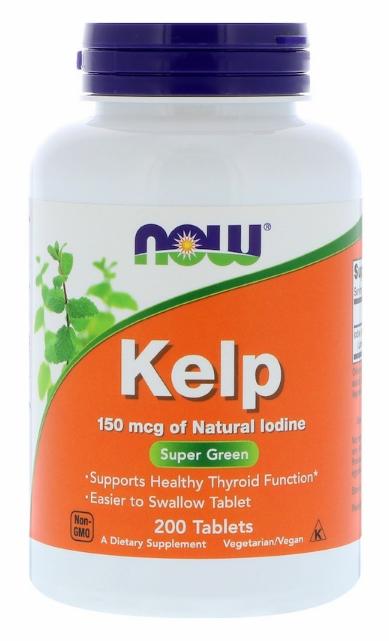 Now Foods, Келп, 150 мкг, 200 таблеток