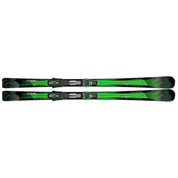 K2  лыжи горные Super Charger mxcell 12 TCx rmotion2 black-green