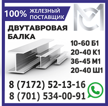 Балка 60 Б1 двутавровая ГОСТ 8239-93 L 12,0 метров
