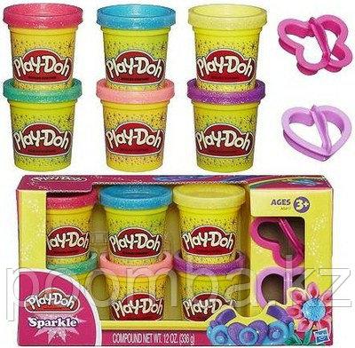 """Пластилин Play Doh """"Блестящая коллекция 6 баночек"""""""