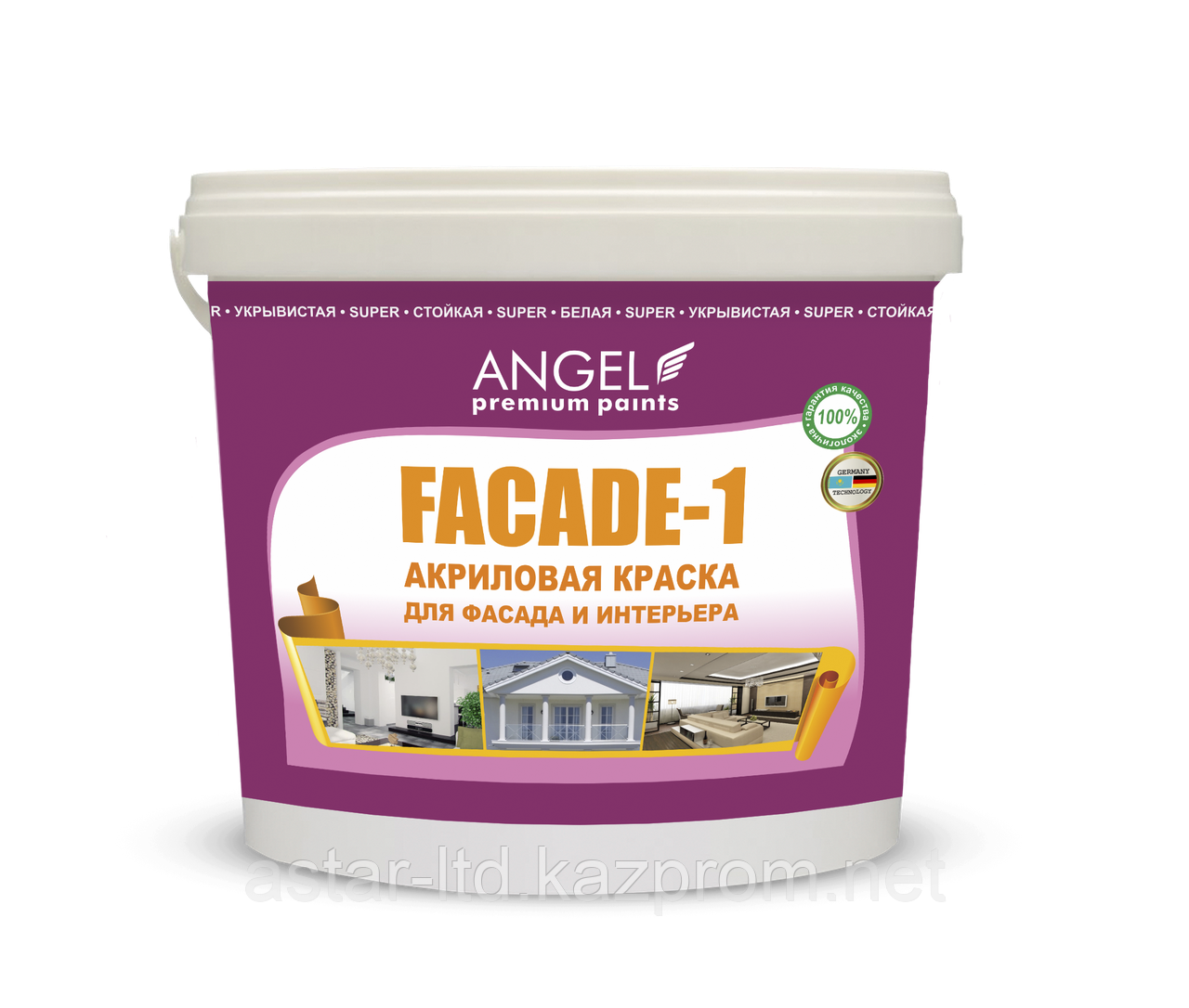 """Водоэмульсионная фасадная краска """"Angel Fasade-1"""" 22 кг"""