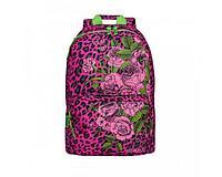 Рюкзак повседневный для девочки Цветы леопрад-фуксия