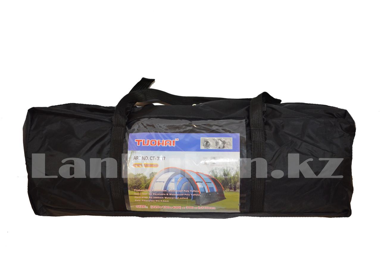 Палатка люкс с коридором и шатром TUOHAI СТ-3017 4-х местная (220+130+420)*300* h210) - фото 4