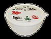 Салатник Bono 1,7 л с крышкой с декором Капрезе молочный