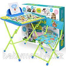 Набор детской складной мебели Ника Пушистая Азбука  (стол+стул)
