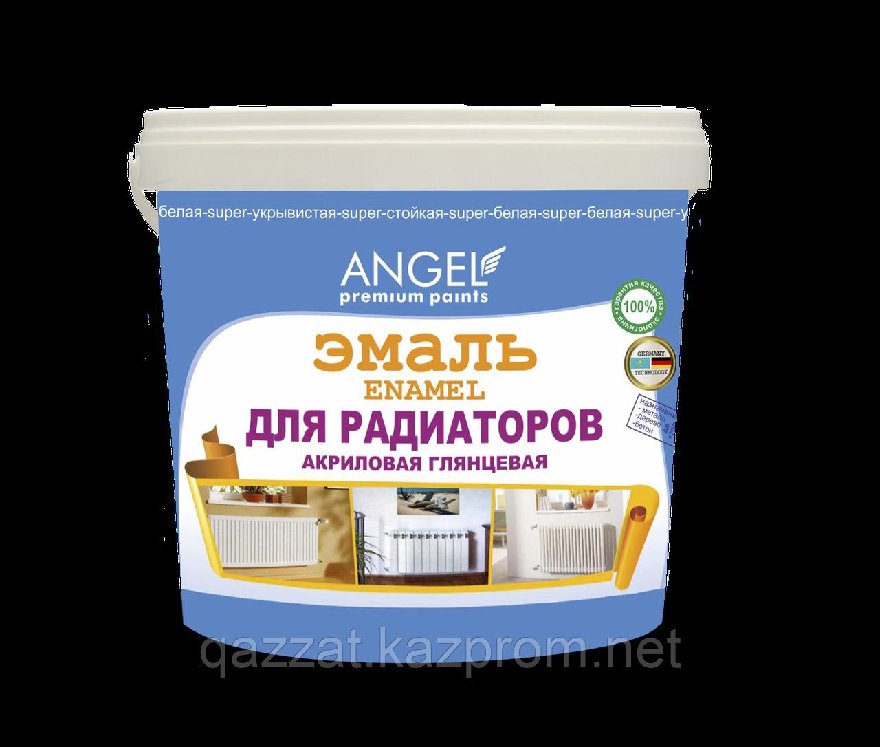 """Эмаль акриловая глянцевая для радиаторов  """"Angel"""" ENAMEL 4,7 кг"""