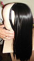 Хвост накладка на ленте из искусственных волос темно коричневый