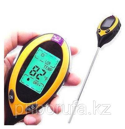 Измеритель pH, влажности, температуры и освещенности почвы АМТ-300