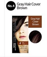 Краска для волос на фруктовой основе Welcos Fruits Wax Hair Color ( 4 Brown)
