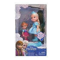 """Игровой набор две куклы 15 см. на катке """"Холодное сердце"""""""