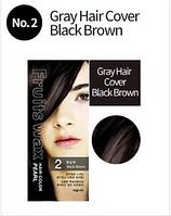 Краска для волос на фруктовой основе Welcos Fruits Wax Hair Color ( 2 Brown)