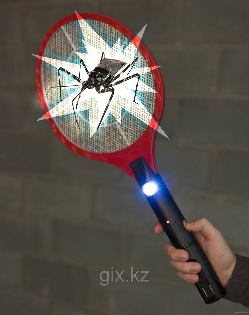 Электрическая мухобойка с фонарем (уничтожитель комаров)