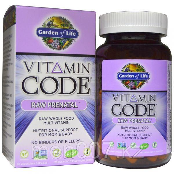 БАД Vitamin Code, Raw Prenatal, пренатальный, мультивитамин на пищевой основе (90 капсул)