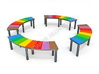 Цветная скамья без спинки
