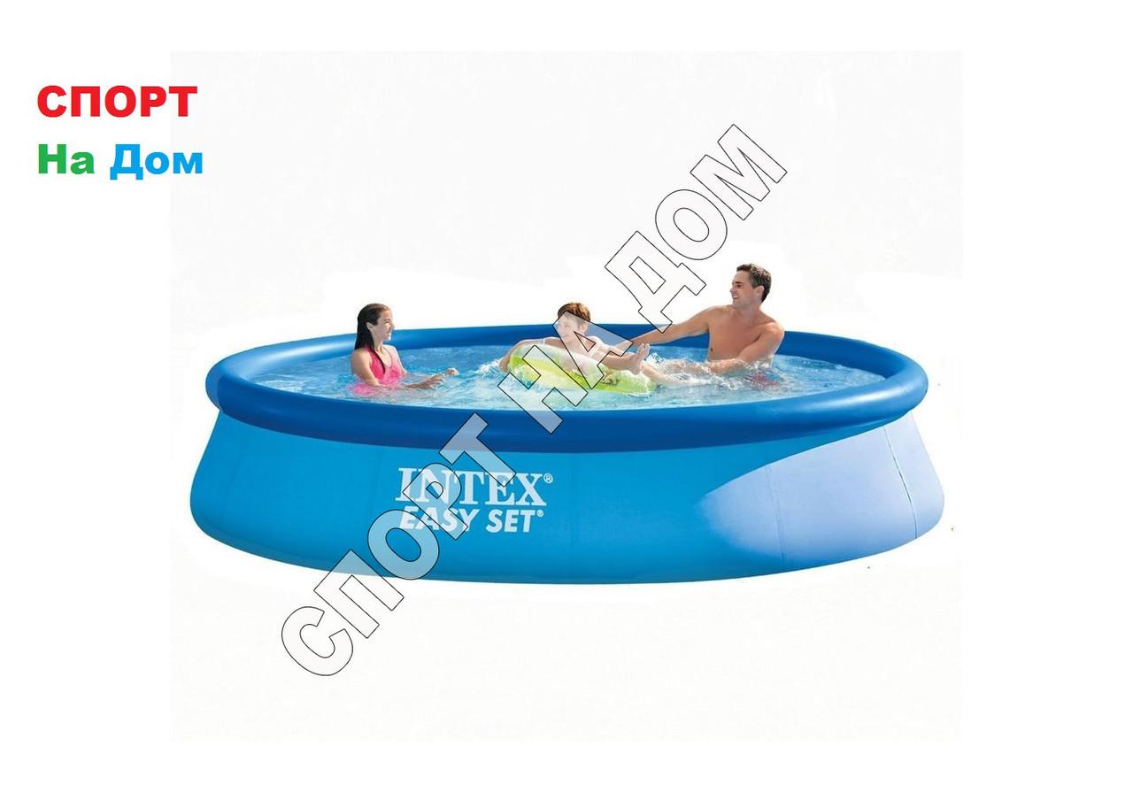 Круглый надувной бассейн Intex 28143 ( Габариты: 396 х 84 см, на 7290 литра )