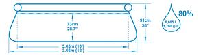 Большой надувной бассейн Bestway 57277 (Габариты: 366 х 91 см, на 6665 литров), фото 2