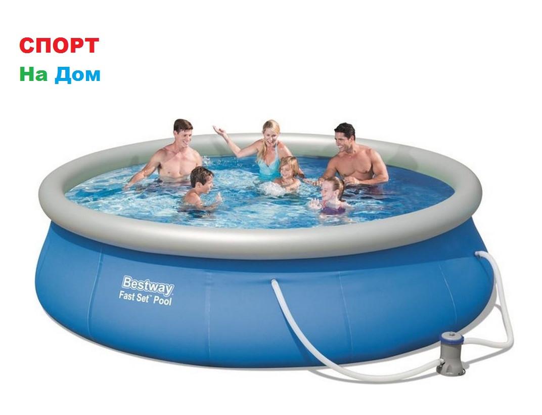 Большой надувной бассейн Bestway 57277 (Габариты: 366 х 91 см, на 6665 литров)