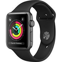 Смарт-часы Apple Watch Series 3 GPS 38mm Space Grey Aluminium Case with Black Sport Band (MTF02GK/A)