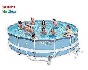 Круглый каркасный бассейн Intex 26718 (366 х 122 см, на 10685 литра )