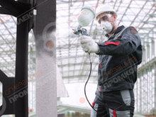 Огнезащитная обработка металлических конструкций краской