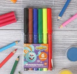 Цветные карандаши, фломастеры
