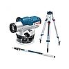 Оптический нивелир с линейкой и штативом BOSCH GOL 20+BT160+GR500 рабочий диапазон 60 м
