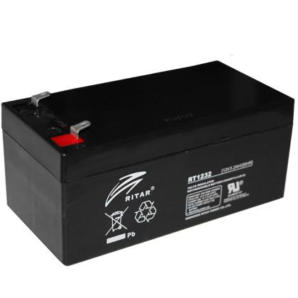Аккумулятор AGM Ritar RT1232 (3.2Ah 12V) для ИБП детских машинок, весов и тд.