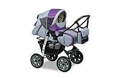 """Коляска-трансформер """"AMELIA I"""" (Alis) (разные цвета) серый+фиолетовый"""