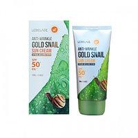 Солнцезащитный крем Lebelage Anti-Wrinkle Gold Snail Sun Cream SPF 50 / PA+++70 ml.