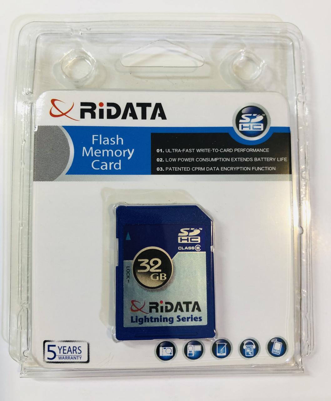 Ridata (Ritek) SD 32GB Class 6