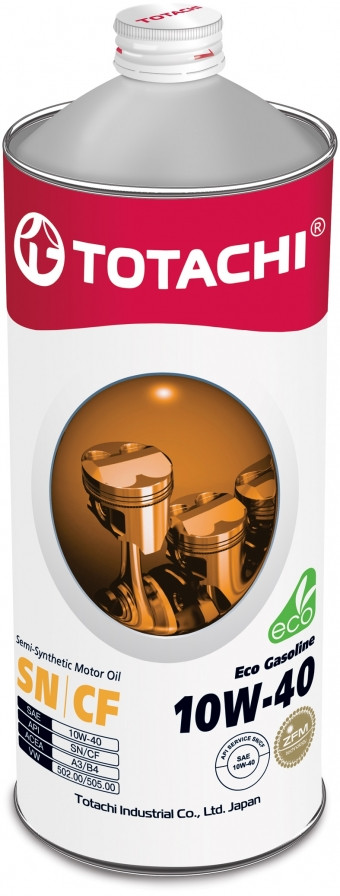 Полусинтетическое моторное масло класса «премиум» TOTACHI Eco Gasoline 10W-40 1L