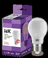 Лампа LED A60 шар матов. 11Вт 230В 3000К E27 серия 360° IEK