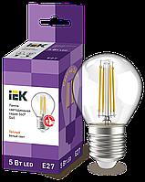 Лампа LED G45 шар прозр. 5Вт 230В 3000К E27 серия 360° IEK