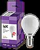 Лампа LED G45 шар матов. 7Вт 230В 3000К E14 серия 360° IEK