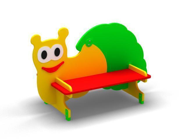 Скамейка для детской площадки «Гусеницa»