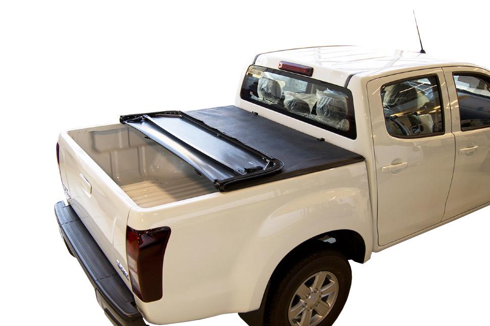 Мягкий трехсекционный тент с алюминиевой вставкой 2012+ Isuzu D-Max Double Cab, 1.47m Bed