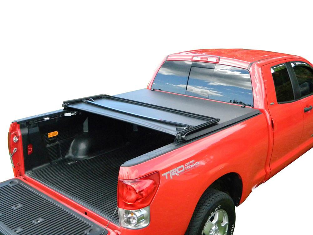 Мягкий трехсекционный тент с алюминиевой вставкой 2014+ Toyota Tundra 5.5  Short Bed