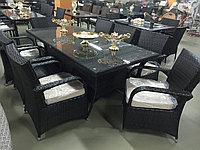 Комплект мебели из искусственного ротанга (стол и восемь кресел) РУЗВЕЛЬТ