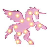 Светильник Единорог с крыльями (на батарейках)