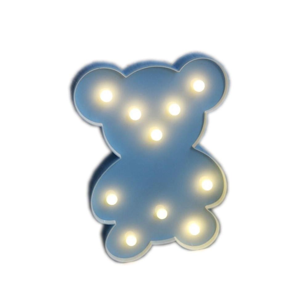 Светильник Мишка (на батарейках)