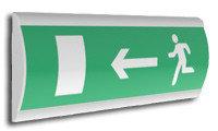 Табло информационное световое ВЫХОД левосторонний плоское Влево вниз Сфера (12/24В)