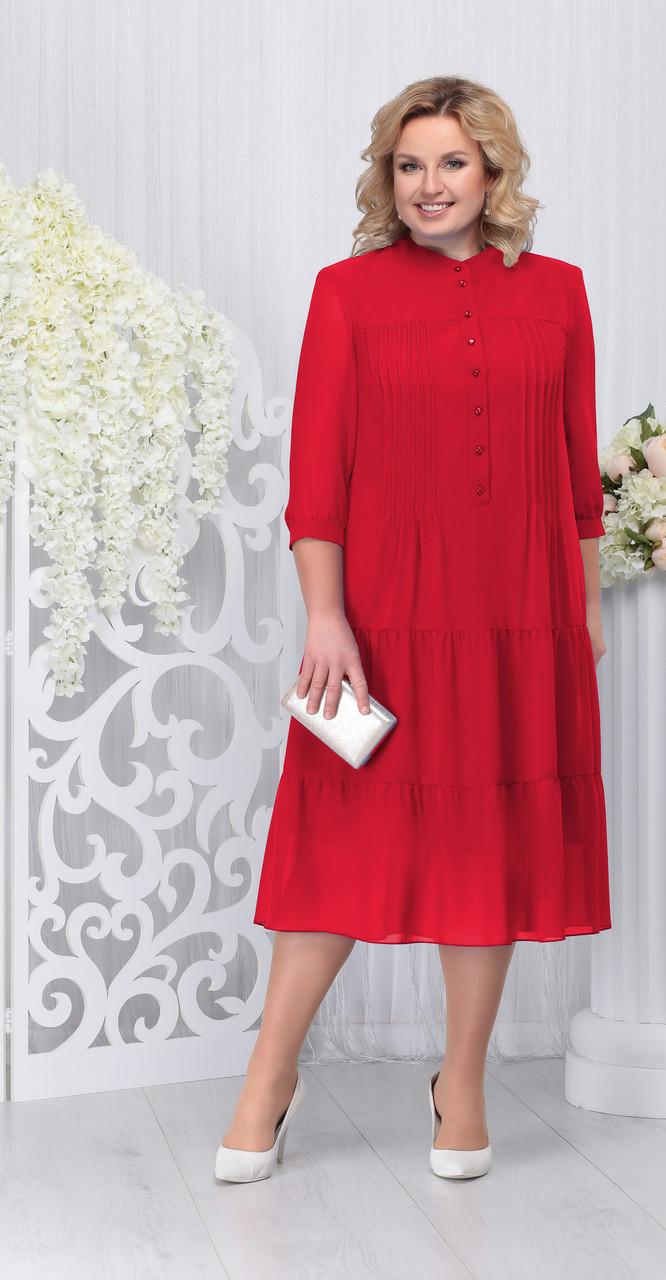 Платье Ninele-2209, красный, 52