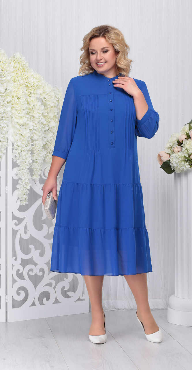 Платье Ninele-2209/2, василек, 52
