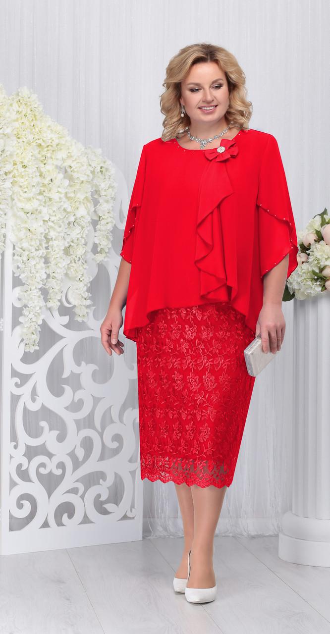 Платье Ninele-5727, красный, 58