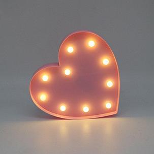 Светильник Сердце большое (на батарейках), фото 2