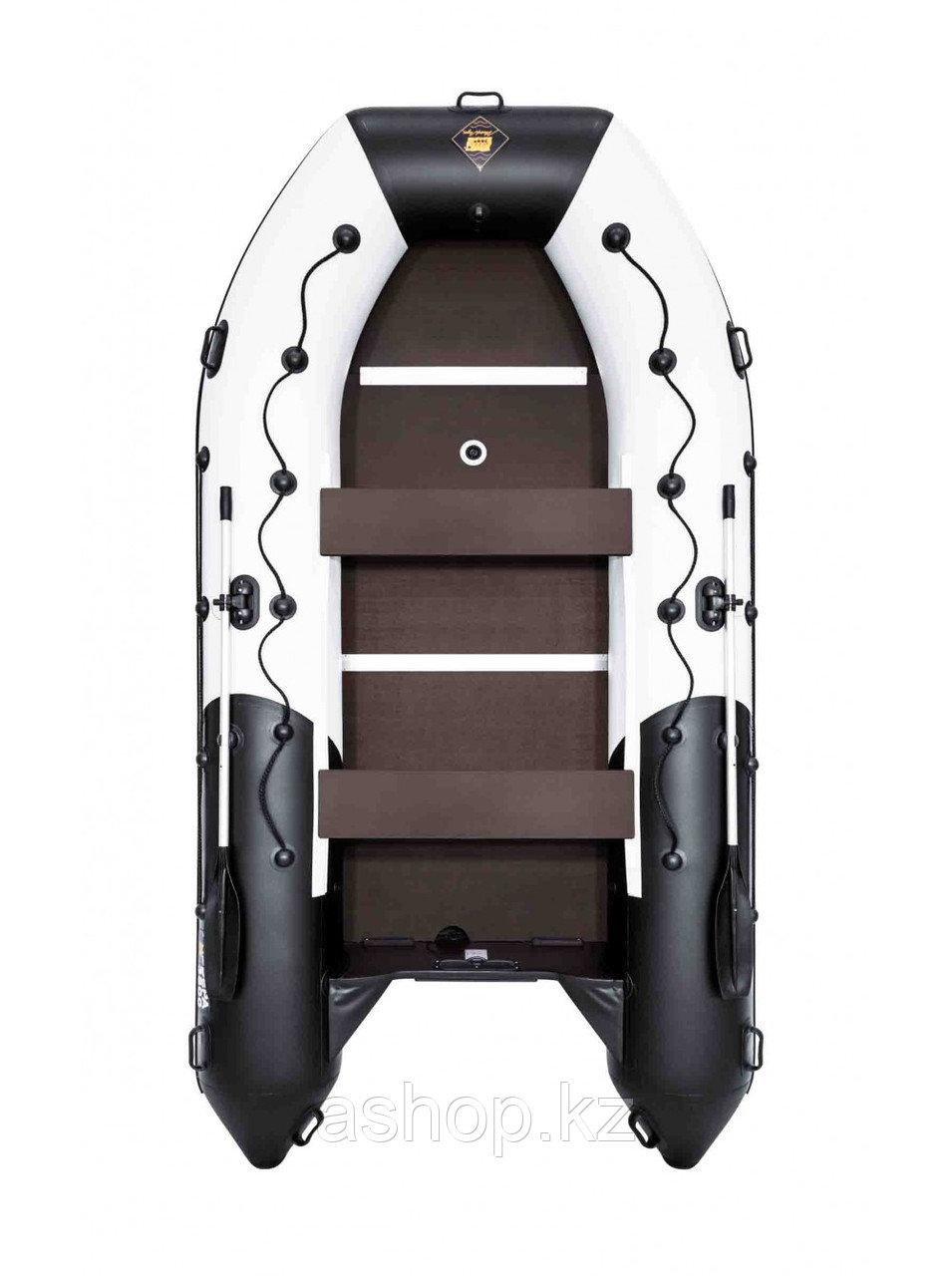 Лодка надувная моторно-гребная килевая Ривьера Максима  3800 СК, Грузоподъемность: 850кг, Вместимость: 5 чел.,