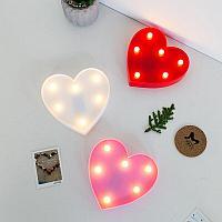 Светильник Сердце маленькое (на батарейках)