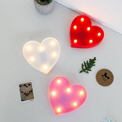 Светильник Сердце маленькое (на батарейках), фото 2